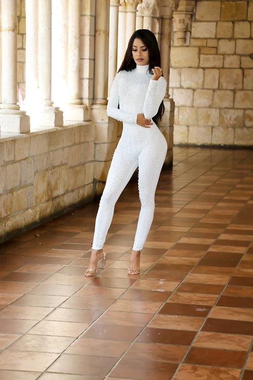 Tina White Jumpsuit