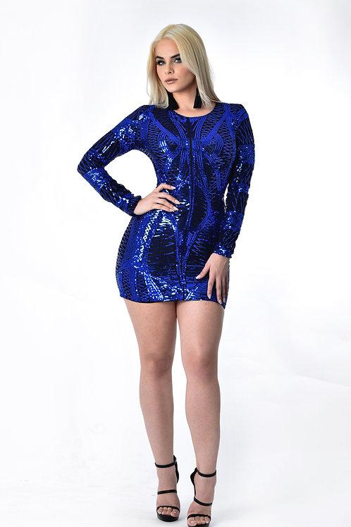 Bibi Sequin  Blue Dress