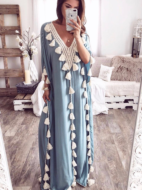 Claudia Luxury Blue Cover-UP