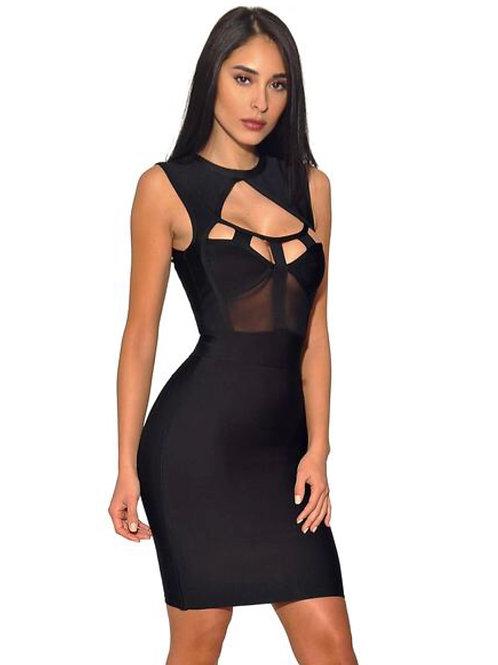 Keke Black Bandage Dress