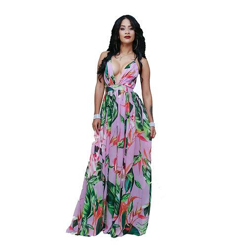 Noelia Print Maxi dress
