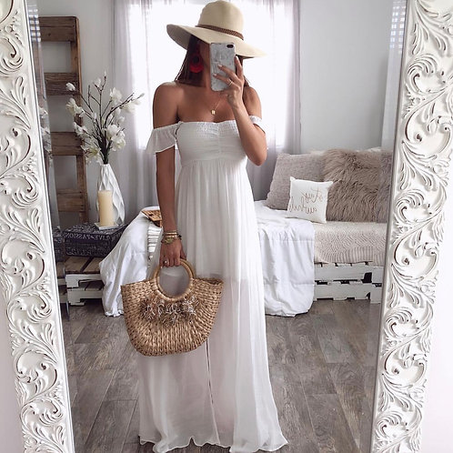Margaret Whit Maxi Dress