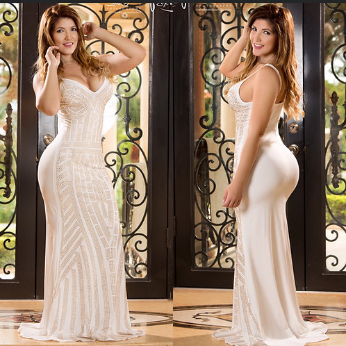 Jaily White Maxi Dress