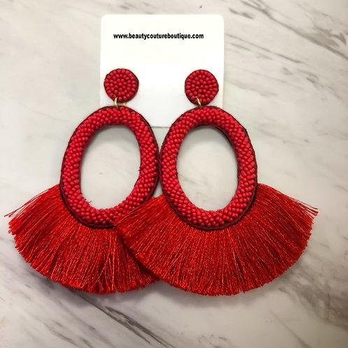 Red Fashion Finger Earrings