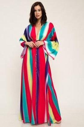 Darleng Multicolor Stripes Maxi Dress