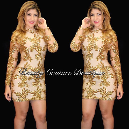 Karla Gold Dress