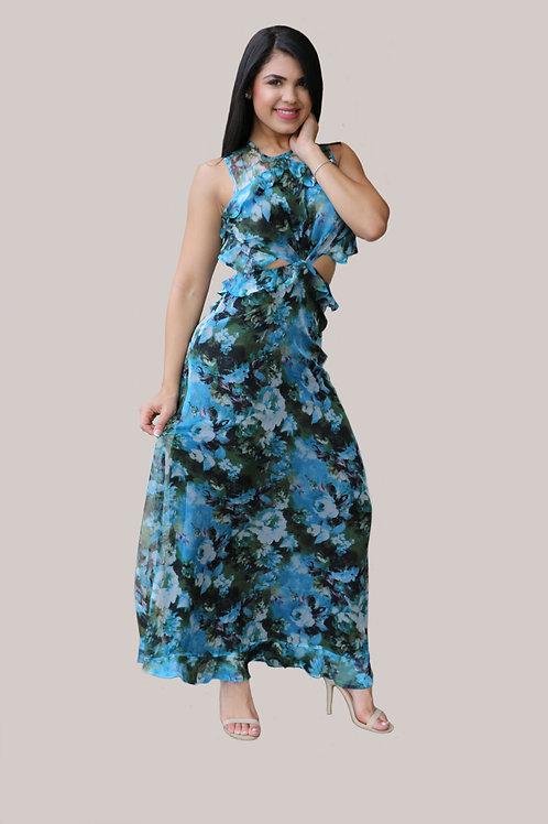 Rachel Maxi Blue Dress
