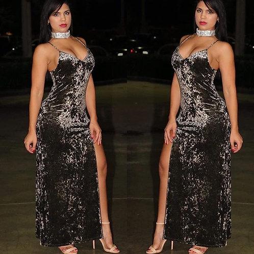 Kaitlyn Olivo Velvet Maxi Dress