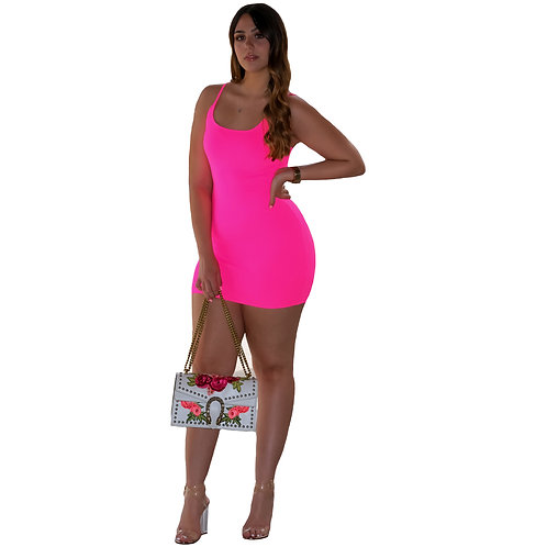 Emely Neon Pink Mini Dress
