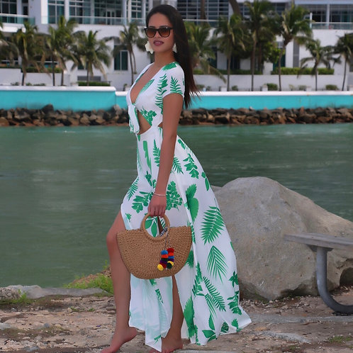 Carla Tropical Maxi Dress