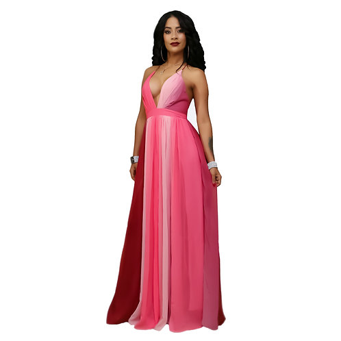 Damarys Pink Maxi Dress