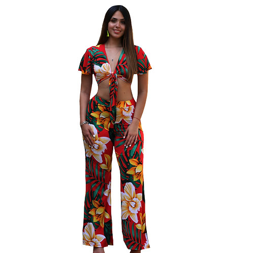 Cancun Floral Pant Set