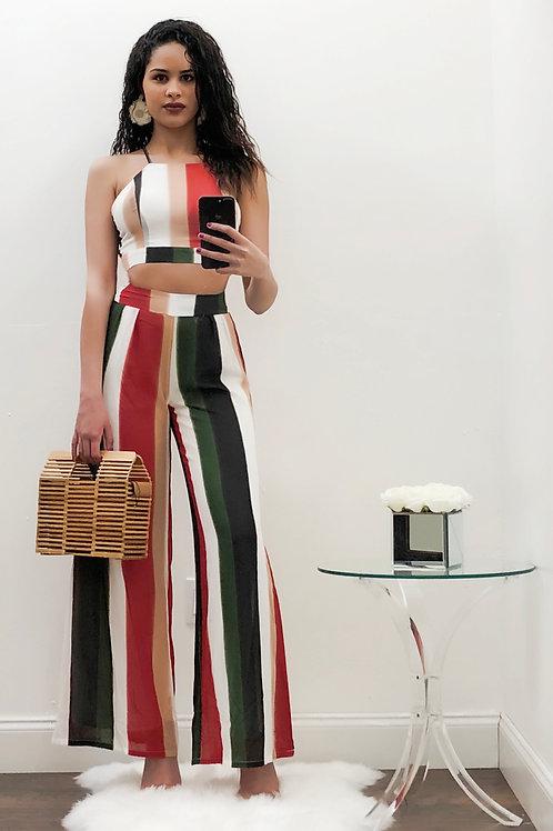 Isabella Multi Color Pants Set