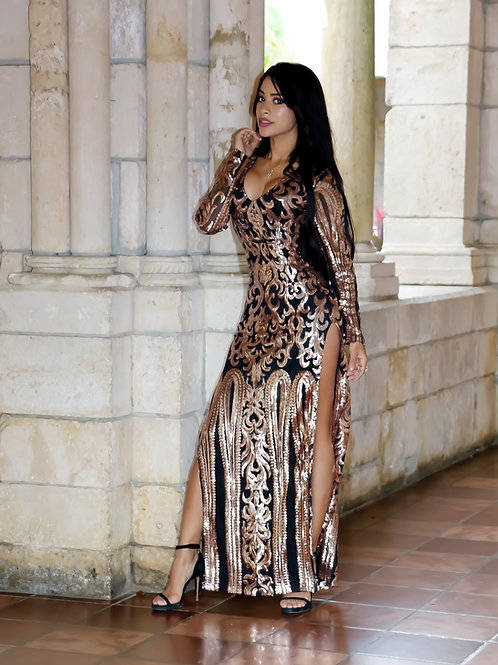 Melia Maxi Long Sleeve Dress