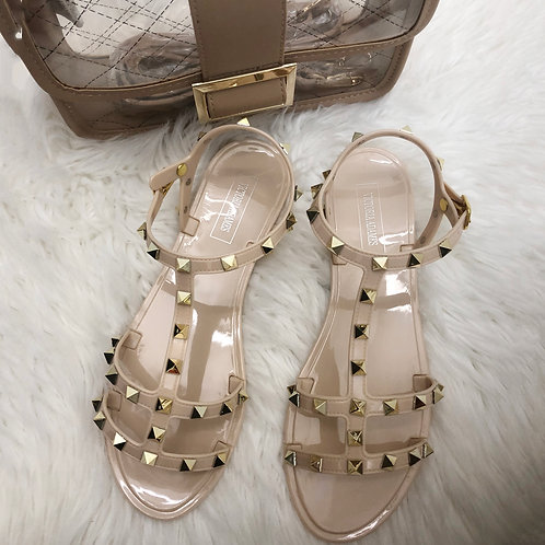 Camila Nude Gummy Sandals