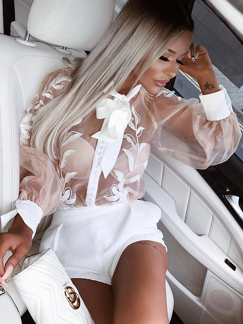 Camila Lace Blouse Long Sleeve