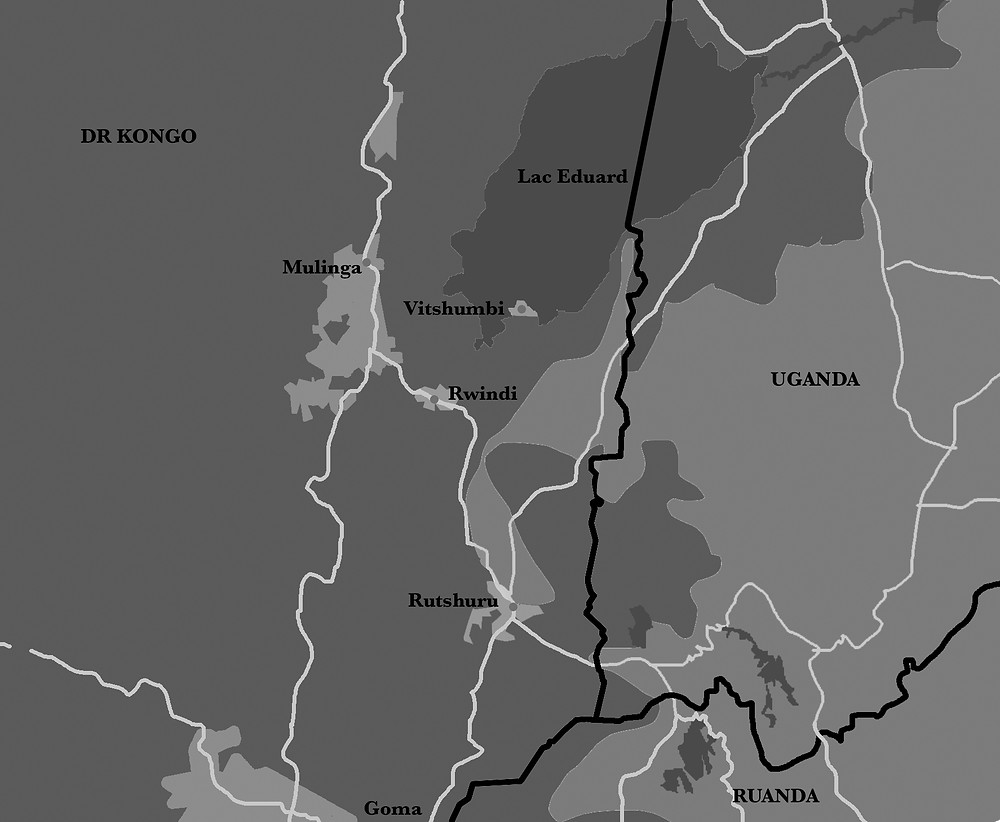 Karte des Virunga-Nationalparks