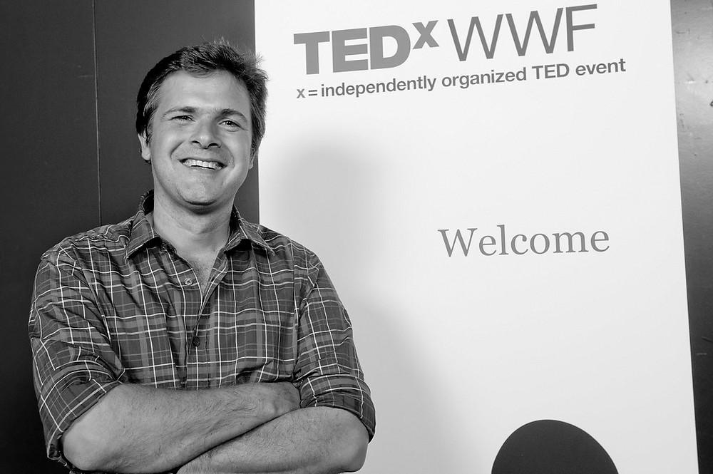 Emmanuel de Merode auf einer TEDx-Konferenz in Genf 2011