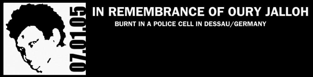 """Logo der Initiative in Gedenken an Oury Jalloh """"Break the Silence"""""""