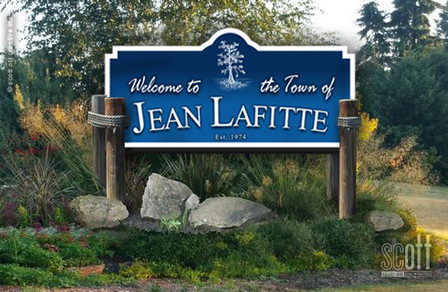 Town of Jean Lafitte signage