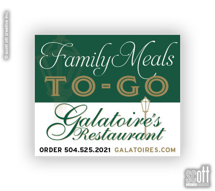 Galatoire's Family Meals TO-GO Campaign