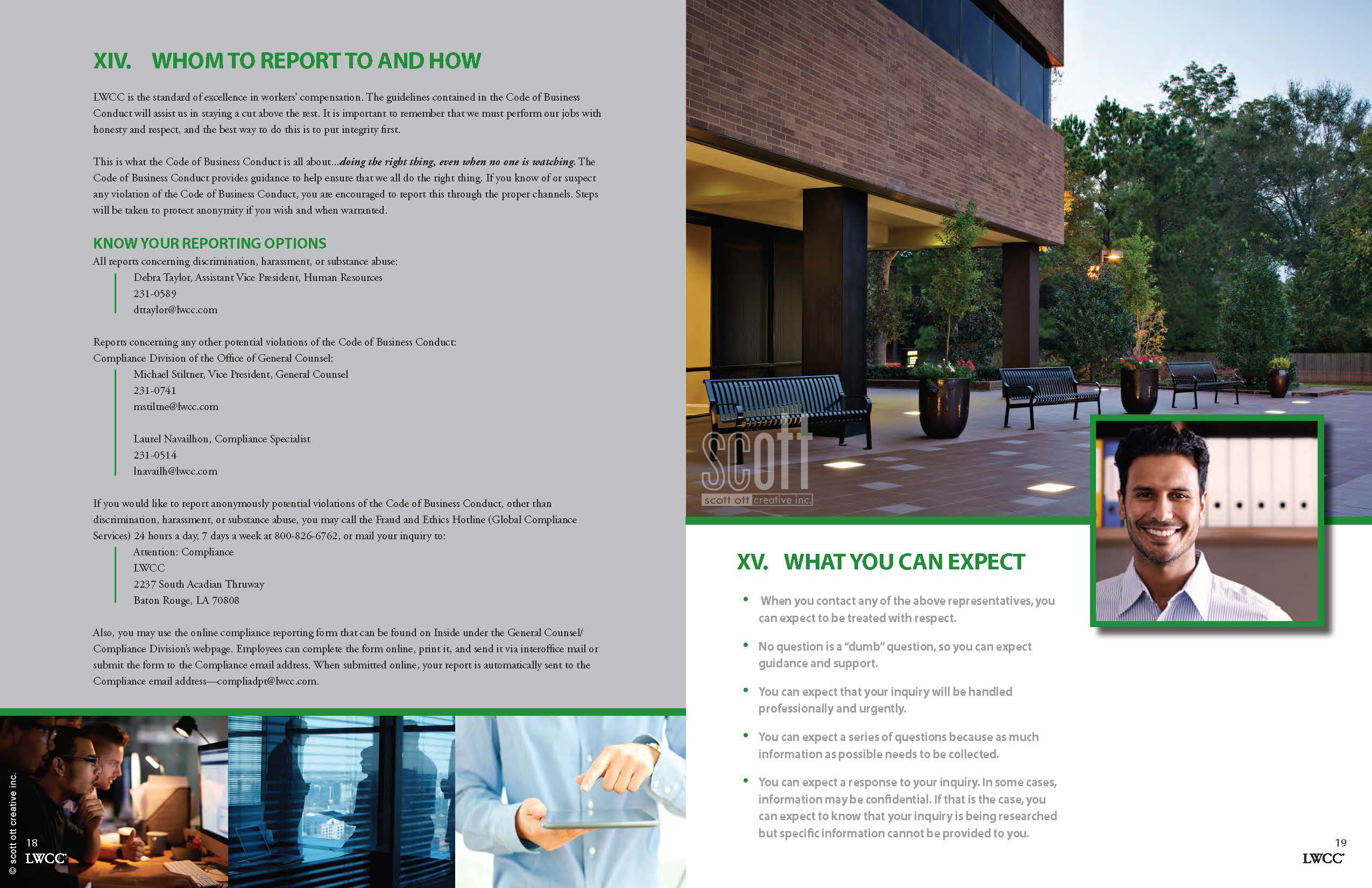 LWCC Code of Business Conduct Collateral | SCOTT OTT CREATIVE INC