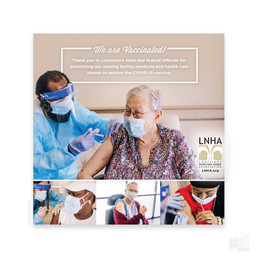 LNHA - We Are Vaccinated campaign