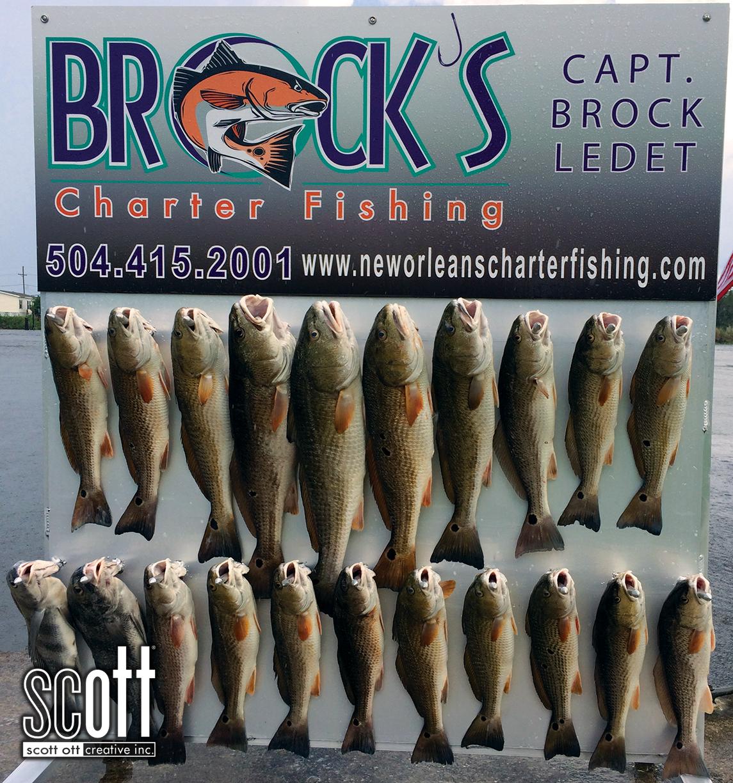 Brocks Charter Fishing BOARD