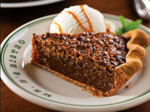 Mr. B's Bistro plate design … SWEET! scott ott creative inc. designed the plates for Mr. B's Bistro. Great working with the Mr. B's Bistro team on the design of their tableware and place settings for their guests. The Chocolate Chip Brownie and Pecan Pie looks great too!
