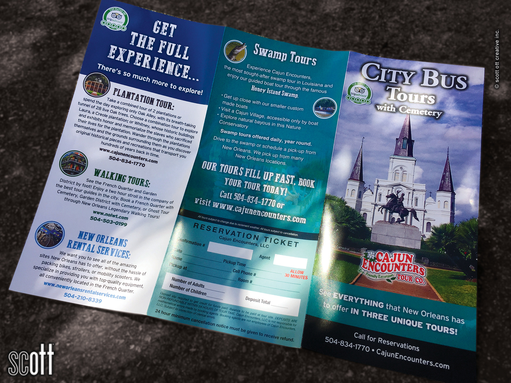 Cajun Encounters CITY TOUR bsck - scott ott creative inc