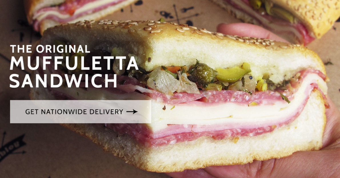 central grocery and deli - scott ott creative inc. MUFFULETTA