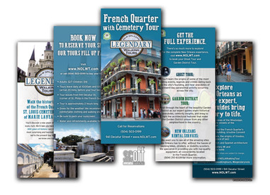 French Quarter and Cemetery Tour Brochures, Rack Cards  and Logo