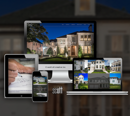 TAG homes website design and development