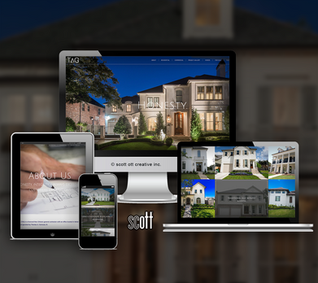 TAG homes website design and development