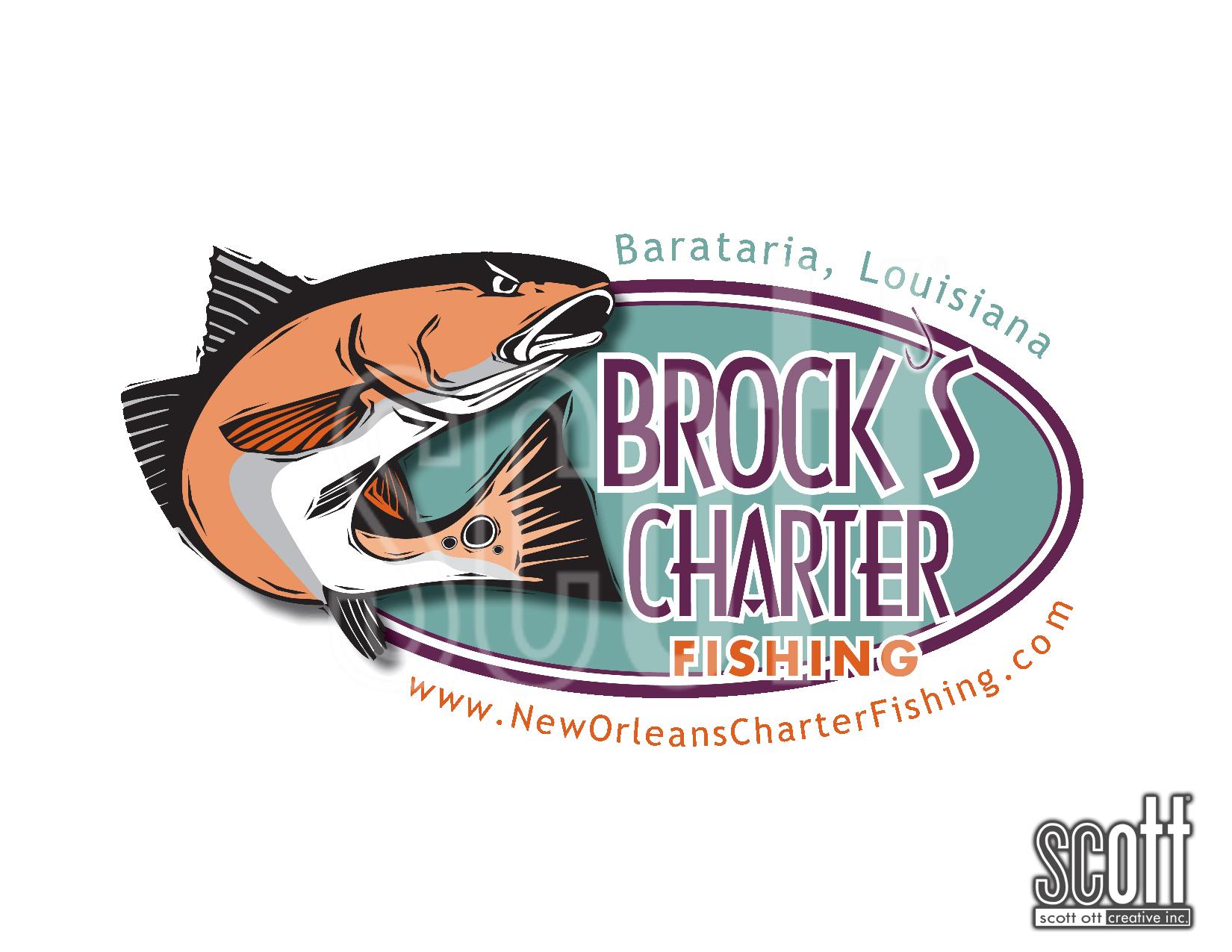 Brock's Charter Fishing OVAL COLOR