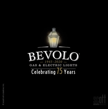 Bevolo 75th ann. logo BLACK