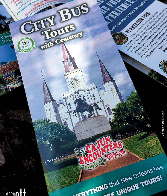 Cajun Encounters CITY TOUR cover - scott ott creative inc