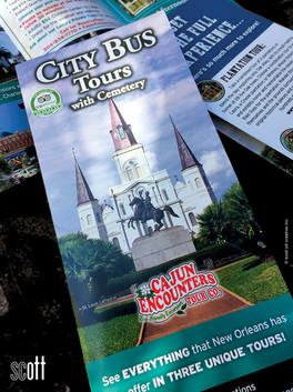 Cajun Encounters CITY TOUR cover - scott ott creative inc.