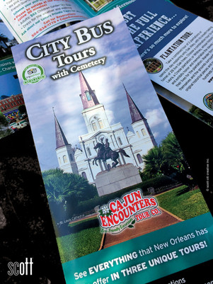 Cajun Encounters CITY TOUR cover - scott ott creative inc.