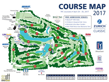 ZURICH GOLF CLASSIC Course Map
