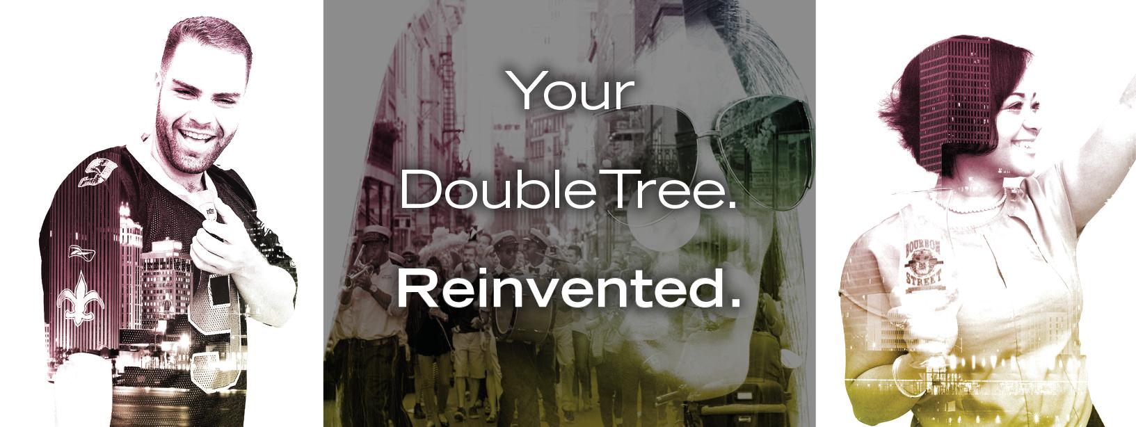 #doubletreedoubletake invite design