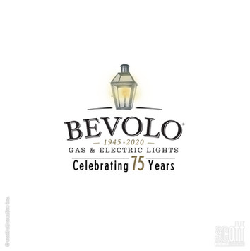 Bevolo 75th ann. logo WHITEo 75th ann. logo -scott ott creativ