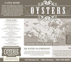 Coterie - OYSTERS Place Mats - scott ott