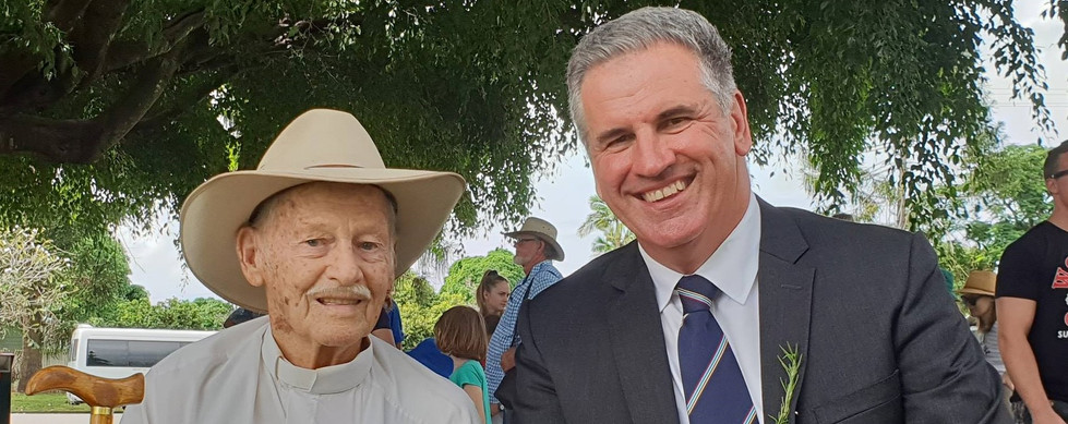 Anzac Day with Vetern Bill Buckley