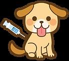 注射される犬