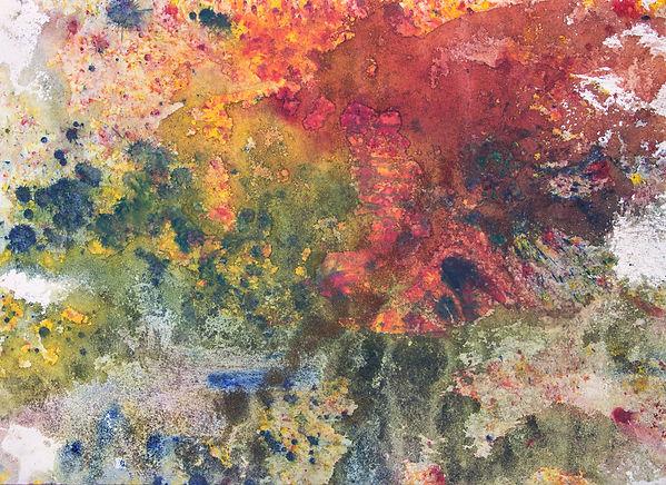 Baptism of Colors IX 80x110 Ink sand wat
