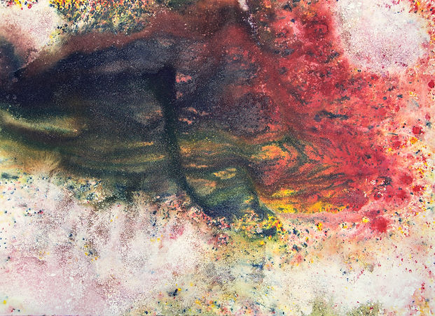Baptism of Colors XI 80x110 Ink sand wat