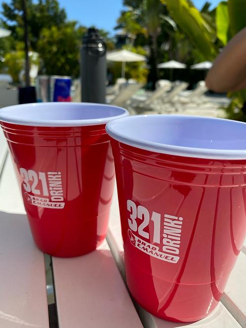 321 Drink Beer Cup 2-Pack