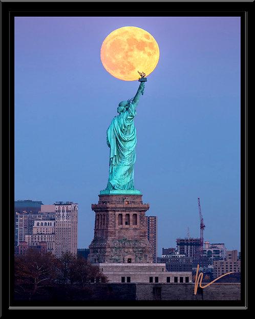 Statue of Liberty Supermoon
