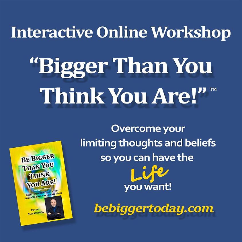 FREE Online Zoom Workshop 8-9:30PM ET - Nov. 25, 2020